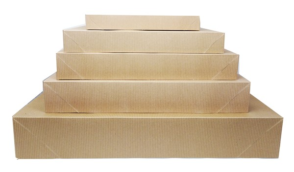 Natural Kraft Grooved Apparel Boxes