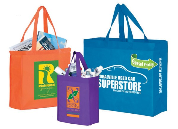 Stock Laminated Non Woven Printed Shopping Bags